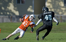Football runner turning Stock Images