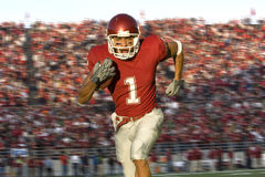 Football Running Back Running Down the Field Stock Images