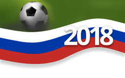 2018 football russia soccer flag background 3D Royalty Free Stock Photo