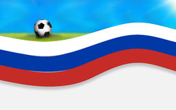 Football russia soccer flag background 3D. Graphic illustration design image Royalty Free Stock Image