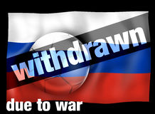Football Russia Withdrawn. L Creative Graphic Illustration Design Royalty Free Stock Photo