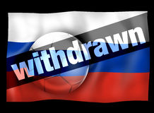 Football Russia Withdrawn. L Creative Graphic Illustration Design Stock Photos