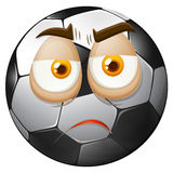 Football with sad face Royalty Free Stock Photo