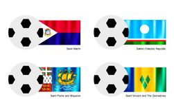 Football of Saint Martin, Sakha, Saint Pierre and  Royalty Free Stock Photo