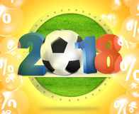 2018 Football Sale Design. Creative Graphic Illustration Design Stock Photos