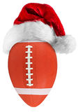 Football santa hat Royalty Free Stock Photo