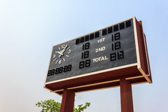 Football scoreboard Royalty Free Stock Image