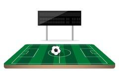 Football scoreboard on soccer field Royalty Free Stock Photos