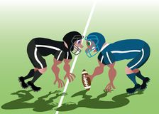 Football Scrum game. Football players scrum-up before starting a game Stock Images