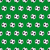 Football seamless background. With football ball Stock Photo