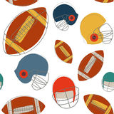 Football seamless pattern. Illustration vector Royalty Free Stock Photography
