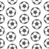 Football seamless pattern for boy. Sports balls on background Stock Images