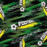 Football seamless pattern for boy. Sports balls on background Stock Photos