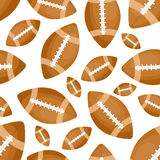 Football seamless pattern. On white background eps 10 Stock Photography