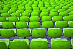Football seats. Stock Photo