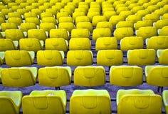 Football seats. Royalty Free Stock Photo
