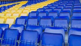 Football seats Stock Image