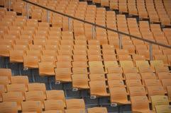 Football Stadium Orange Seats. Football seats,Seat pitch,guangzhou stock photos
