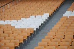Football Stadium Orange Seats. Football seats,Seat pitch,guangzhou stock photography