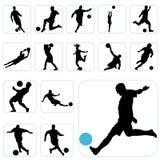 Football set vector illustration