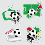 Football set Royalty Free Stock Images