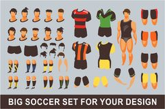 Football set for animation Royalty Free Stock Photography