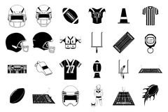 Football. A set of different elements used in football Stock Photos