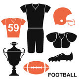 Football. Set Stock Image