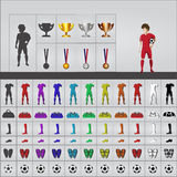 Football set Royalty Free Stock Image