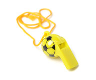 Football shape whistle isolated Royalty Free Stock Photo