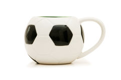 Football shaped cup isolated Royalty Free Stock Photography