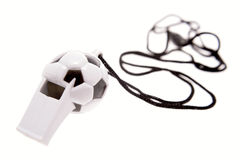 Football shaped whistle Royalty Free Stock Image
