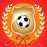 Football shield 2 Stock Image