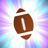 Football Shiny Background Stock Photography