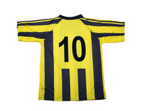 Football   shirt clipping path Stock Images