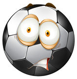 Football with shocking face Stock Photo
