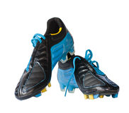 Football shoes with clipping path Royalty Free Stock Images