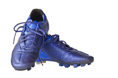Football shoes with clipping path. Football shoes isolated on white background with clipping path Stock Photography