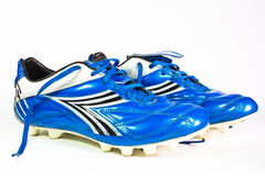 Football shoes. Isolated on the white background Royalty Free Stock Photography
