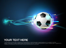 Football shoot with sparkling light background Stock Image