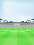 Football shooter goal view on playground with sky vector Stock Image