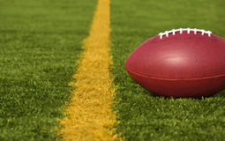 Football Short of the Goal Line Close Stock Images