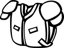 football shoulder pads vector illustration stock photo
