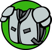 Football shoulder pads vector illustration Royalty Free Stock Photography