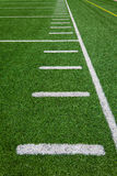 Football side lines - yards Royalty Free Stock Images