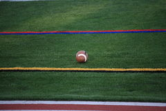 Football and Sidelines Royalty Free Stock Image