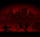 Football silhouette Royalty Free Stock Photography