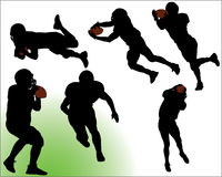 Football Silhouette Vectors Royalty Free Stock Photography