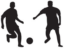 Football silhouettes Stock Photography