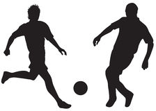 Football silhouettes Royalty Free Stock Image